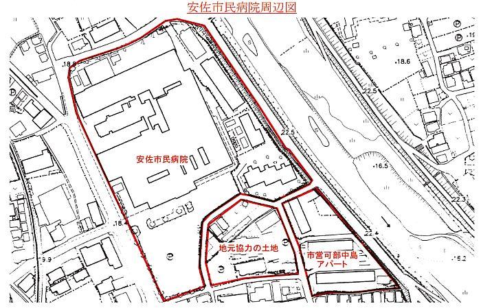 安佐市民病院周辺図
