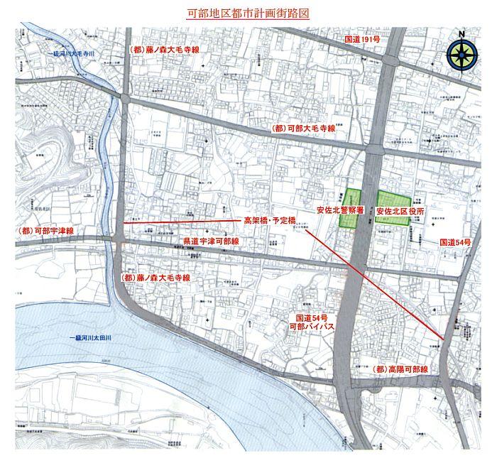 可部地区都市計画街路図